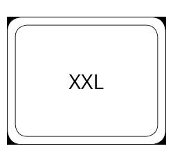 XXL mousepad form standard format 40 x 28 cm PDF
